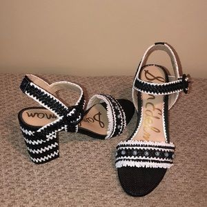 Sam Edelman black and white heels.